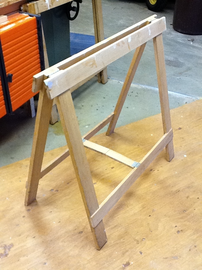 Folding Sawhorse Stows Away Finewoodworking