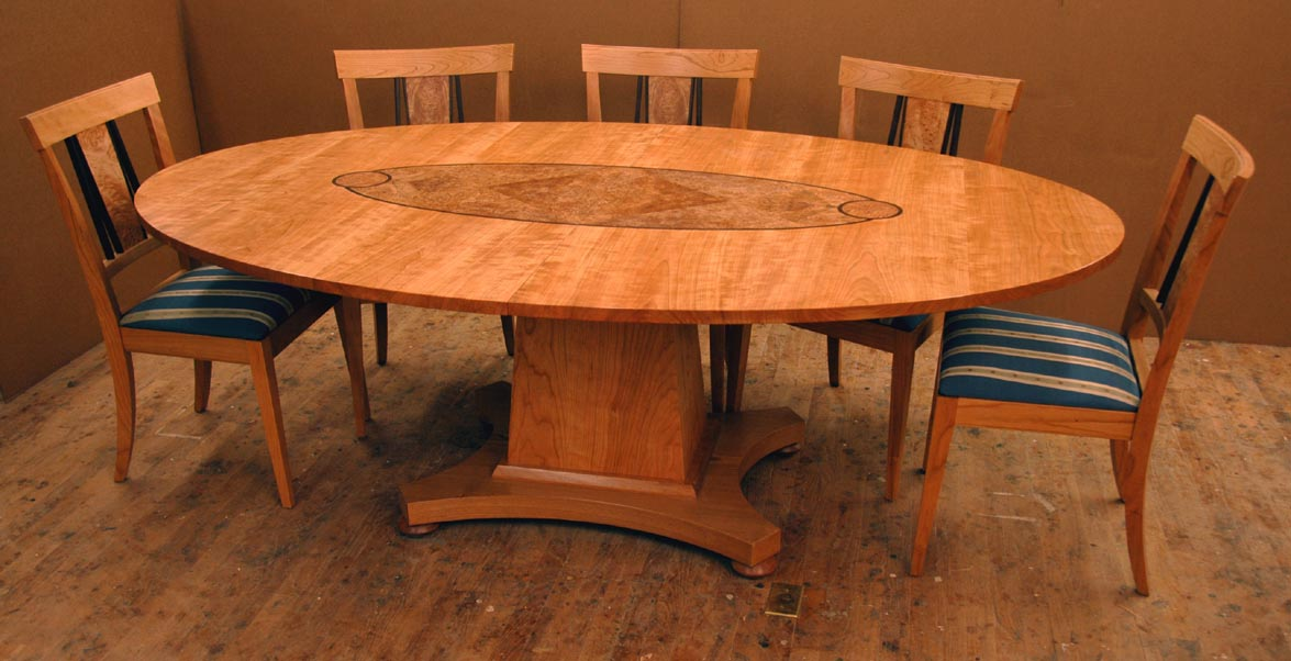 Some Custom Cherry Dining Room Furniture FineWoodworking - Custom kitchen table and chairs