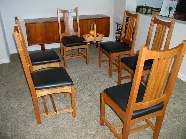Arts And Crafts Dining Table And Chairs: Arts And Crafts Dining Chairs
