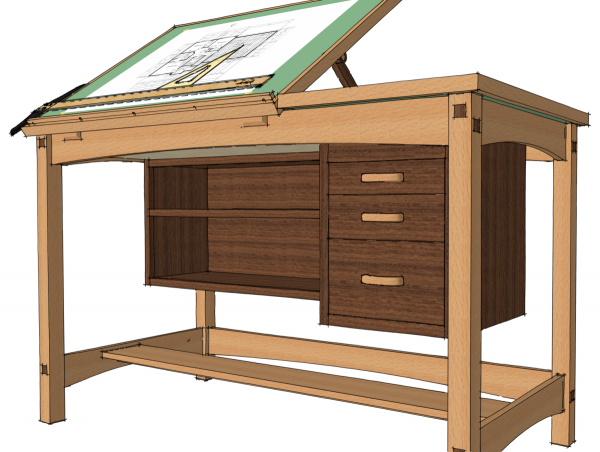 I Can Now Easily Change Out The Pulls On The Drawers In This Drafting Table  To See How They Look.