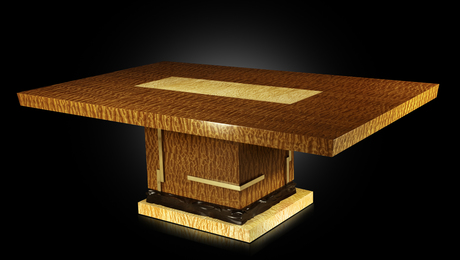 Quilted Sapele Dining Table - FineWoodworking