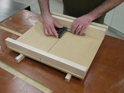 make an easy, precise table saw crosscut sled; how to square the fence