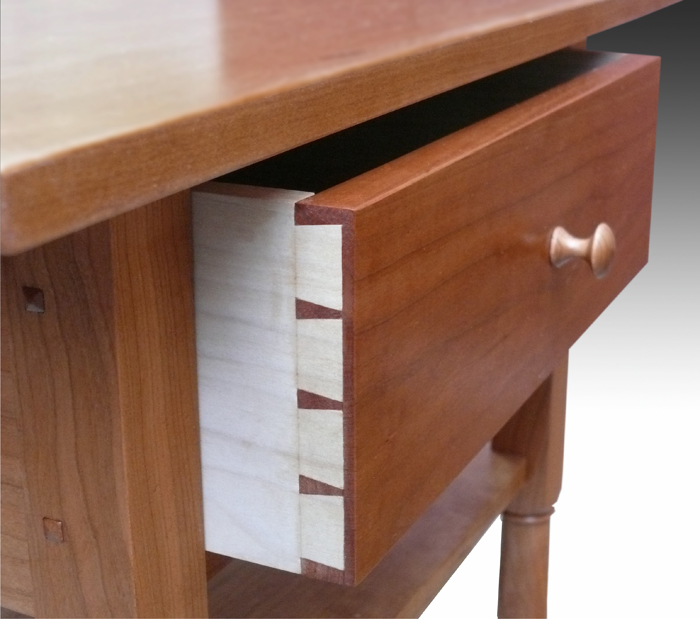 shaker end table with shelf - finewoodworking