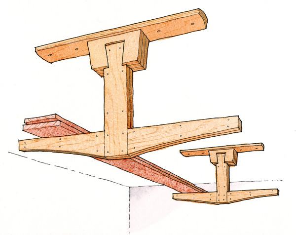 Free Plan Overhead Lumber Rack Finewoodworking