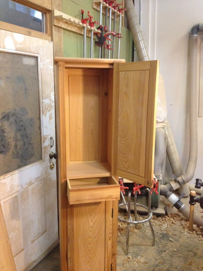Made This Shaker Chimney Cabinet For My Bathroom Here In New Orleans Out Of  Reclaimed Cypress From Old Barn. Used The Video By Michael Pekovich Which  Helped ...