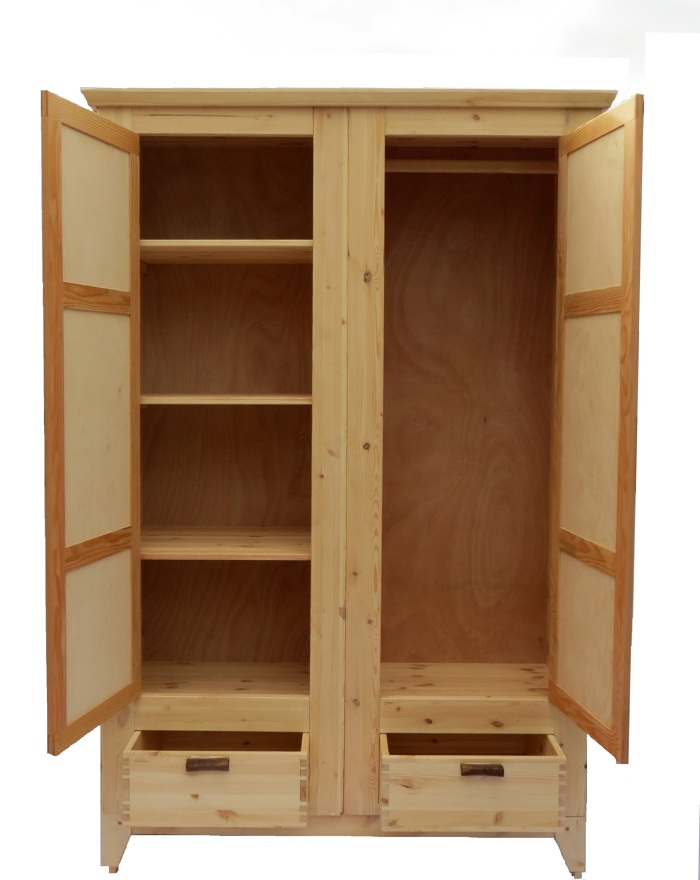 Clothes cabinet finewoodworking for Wardrobe cabinet design woodworking plans