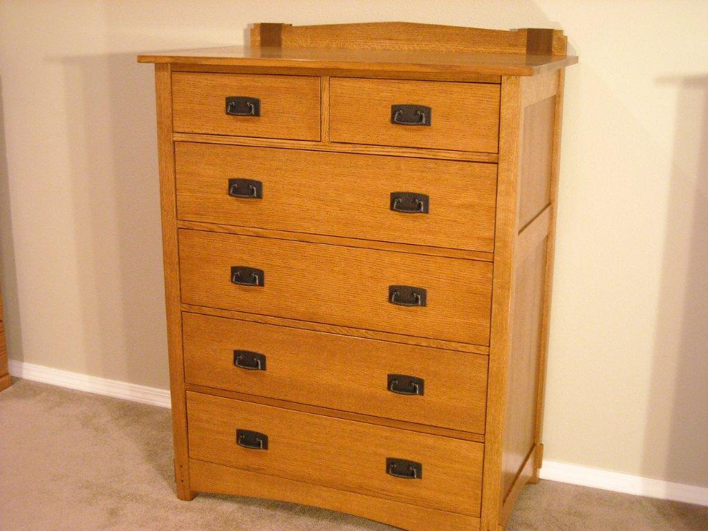 Wedge And Strap Arts Crafts Dresser Finewoodworking