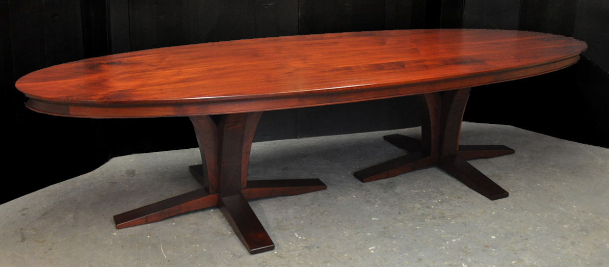 A Double Pedestal Oval Dining Table Finewoodworking