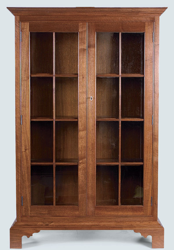 glass vid bookcase breakfrontsbookcases home furniture front