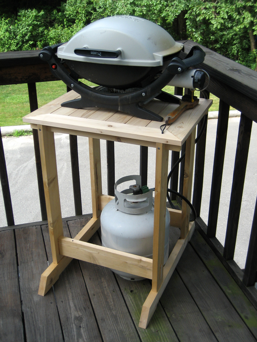 Grill Stand Fit For A Woodworker Finewoodworking