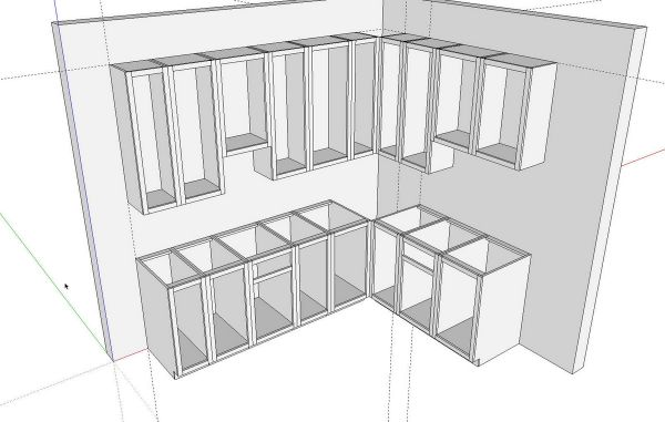 Wonderful Kitchen Cabinet Design Drawing. Kitchens In SketchUp FineWoodworking