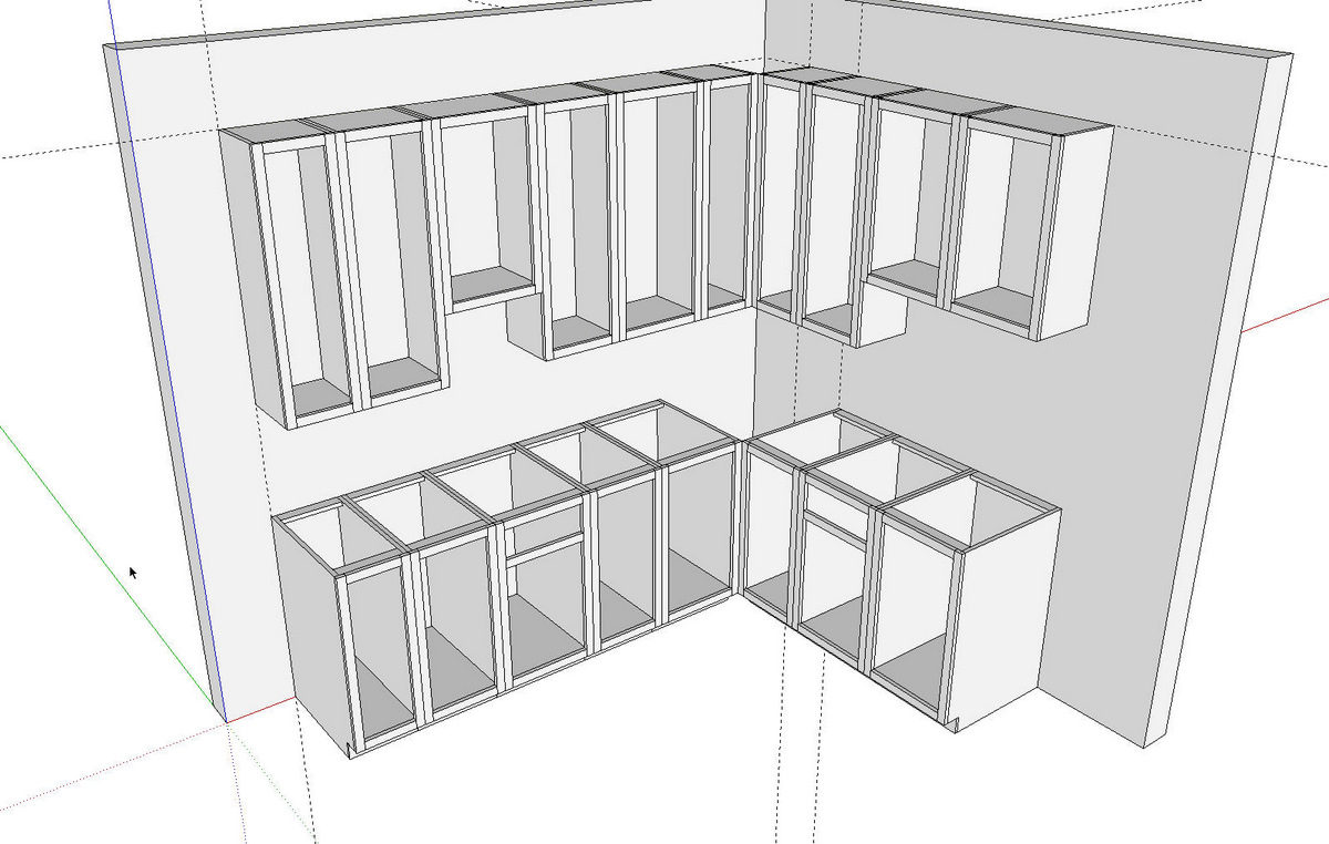 kitchens in sketchup finewoodworking. Black Bedroom Furniture Sets. Home Design Ideas
