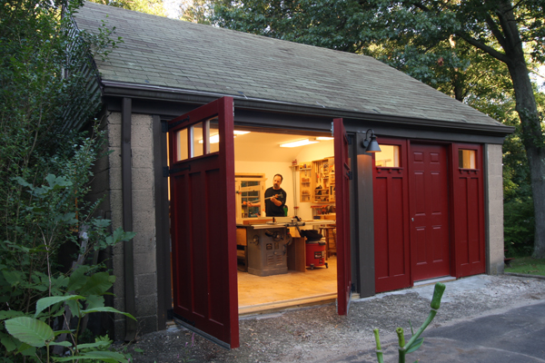 My Extreme Garage Makeover. I Replaced The Old Roll Up Doors With Carriage  Doors In One Bay And A Walk Out Door In The Other. A Comfy Plywood Floor,  ...