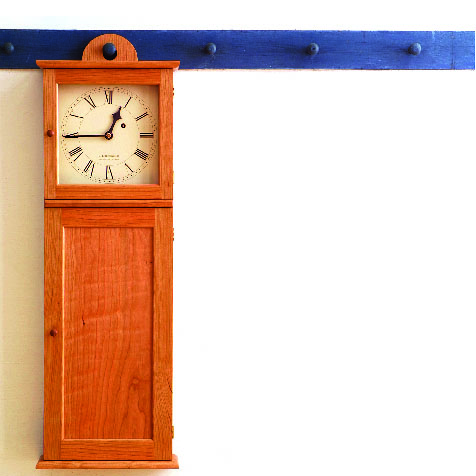 Free plan shaker wall clock finewoodworking click here to download the free pdf article and woodworking plan for becksvoorts clock malvernweather Gallery