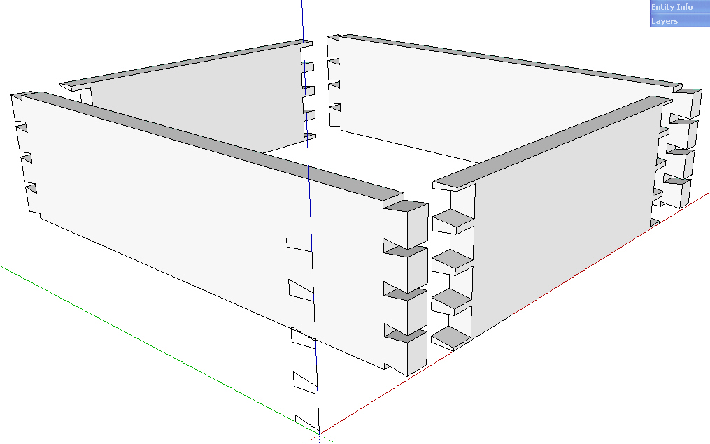 Dovetail Joints In Sketchup Made Easy Finewoodworking