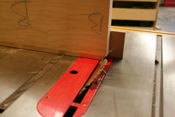 putting miters on the interior corners of a frame and panel door