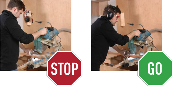 Wear the Proper Safety Equipment Table Saw Safety Tips