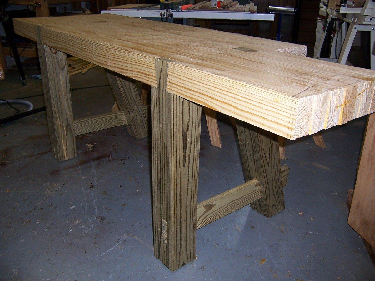 Outstanding Making A Roubo Workbench Part 3 Finewoodworking Machost Co Dining Chair Design Ideas Machostcouk