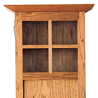Free Plan Craftsman Wall Cabinet Finewoodworking