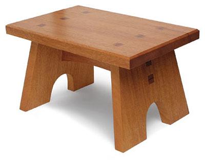 free plan sturdy footstool finewoodworking
