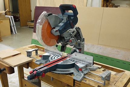 New 12 inch miter saw from bosch finewoodworking boschs newest 12 inch sliding miter saw doesnt have slide tubes so you can put it right against the wall most other sliders require 12 inches or more greentooth Image collections
