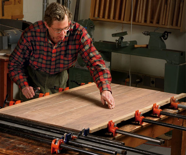 How To Glue Up Joints The Right Number Of Clamps