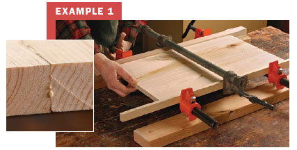 How To Glue Up Joints The Right Number Of Clamps Finewoodworking