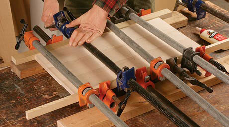 How To Glue Up Joints Different Woods Need Different Clamping