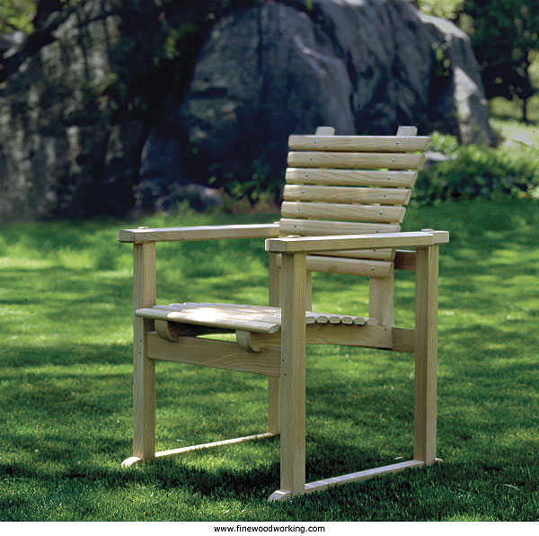 A Sturdy Chair, Designed For The Outdoors. Find Details On Making This Chair  In The Latest Issue Of Fine Woodworking. Click Here To Read The Article  Online.