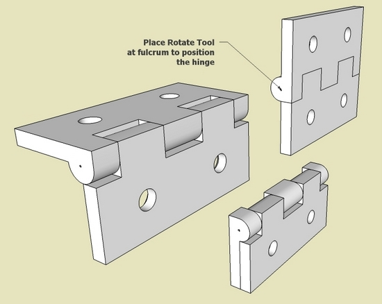 A reader asked how to make a hinge in SketchUp specifically a Brusso Stop Hinge (used for small boxes). Iu0027ve created many different types of hinges for my ... & Creating a Hinge in SketchUp - FineWoodworking