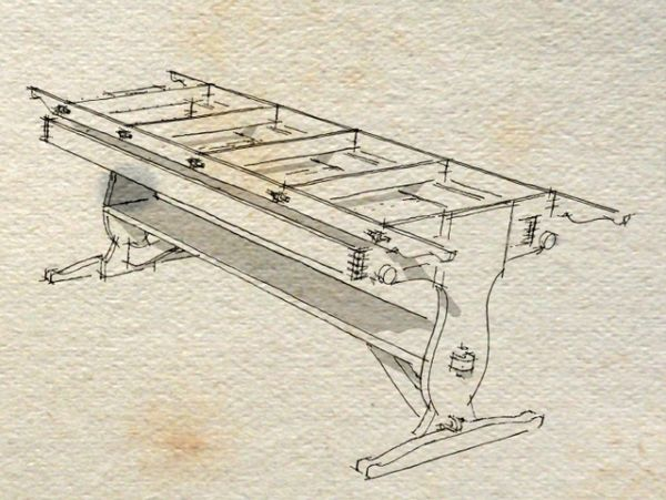 Another look at creating plans from a sketchup model finewoodworking this plan is my interpretation of l francis herreshoffs drawing table i worked from a downloaded scan from a book by uffa fox from what i can tell keyboard keysfo Gallery