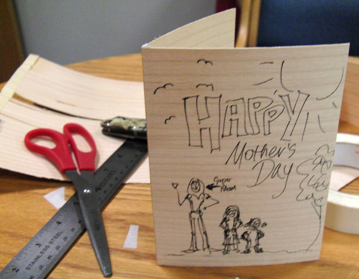 Make A Wooden Greeting Card Finewoodworking
