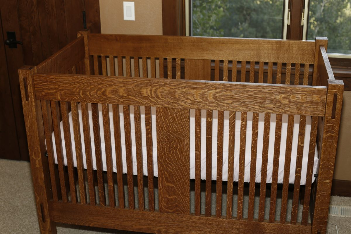 nursery and wall crib shelf cribs wooden oak with baby