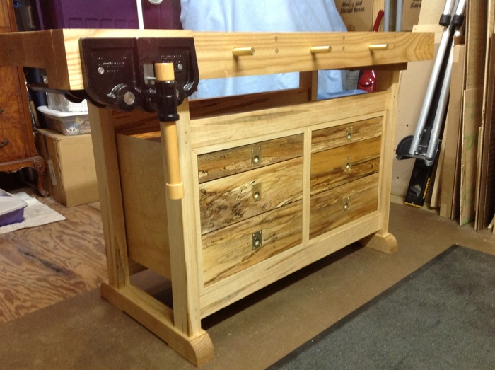 The Not So Big Workbench Plan By Ed Pirnik. Drawer False Fronts Done In  Sycamore.