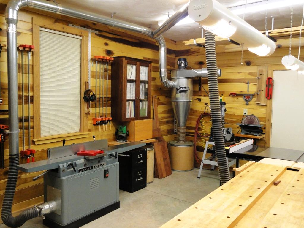 Gerald lauchle 39 s woodworking shop finewoodworking for Dust collection system design home shop