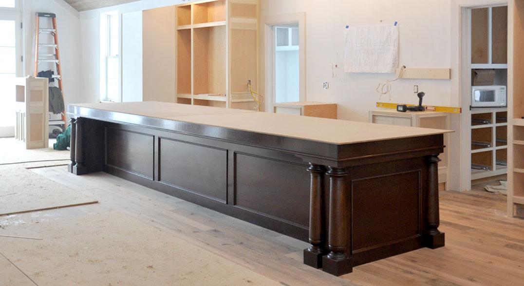 Kitchen Island With Granite Glue Up
