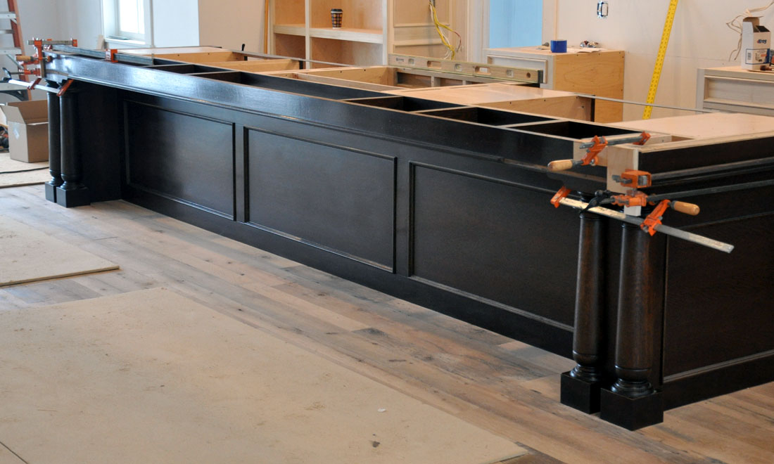 Kitchen Island With Granite Glue Up