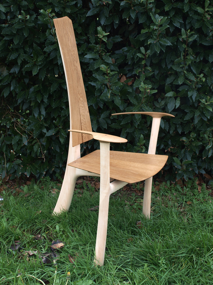 The Seat And Back Are In Oak, The Rest Is In Maple.