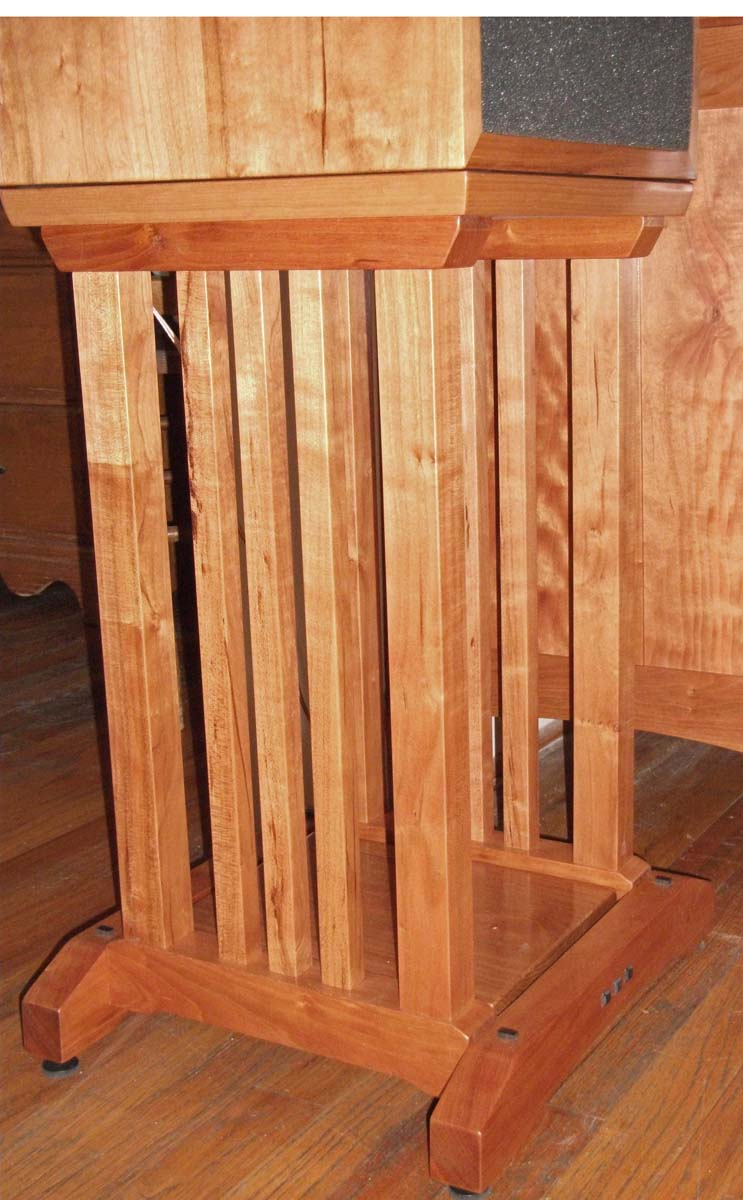 arts and crafts speaker stands finewoodworking