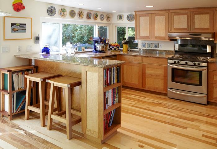 Cherry and Birdseye Maple Kitchen - FineWoodworking