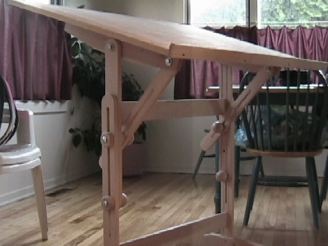 This Is A Drafting Table I Made For My Daughter. Other Than The Plywood Top  It Is All Recycled Hardwood Flooring That Was Destined For The Outdoor Fire  Pit ...