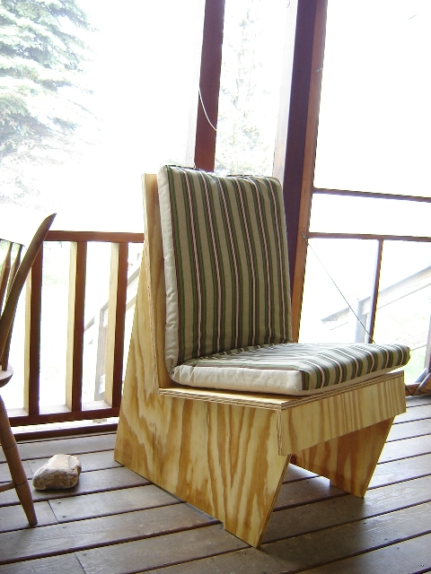 Usonian Styled Plywood Chair Finewoodworking