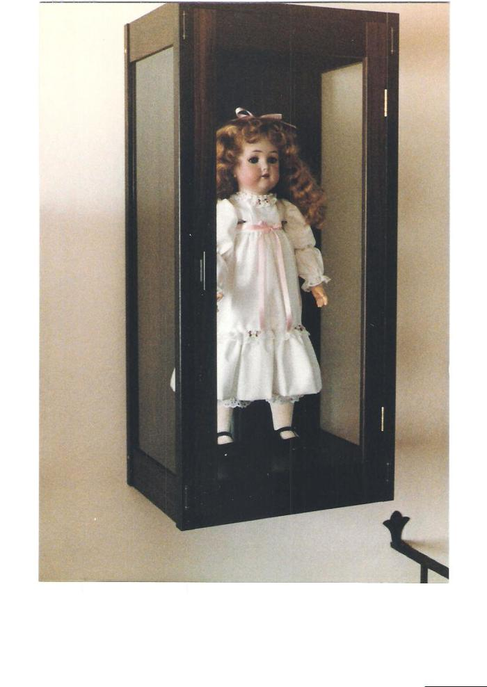 Bon Wall Mounted East Indian Display Cabinet For Antique German Doll. The  Cabinet Back Was Thick Sliced Veneered To Save Weight. The Cabinet Had A  Hidden Bottom ...