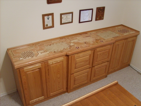 Superieur While The Base Cabinet Was Made By A Professional Cabinet Maker, The  Countertop Is My Own Design And Making. The Countertop Is Made Of Mostly Oak,  ...