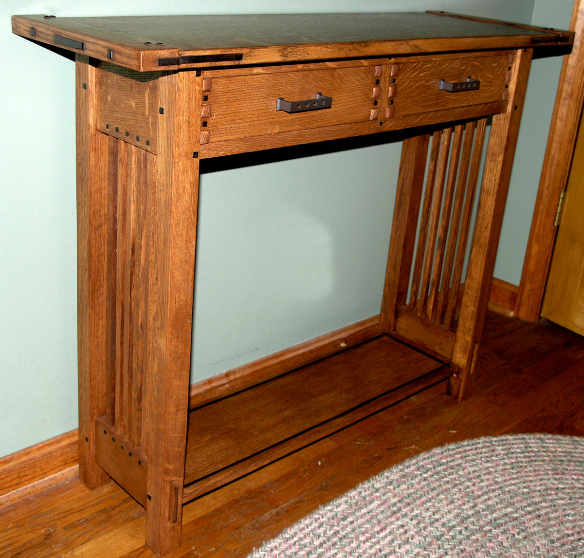 Greene Greene Arts And Crafts Sofa Table Finewoodworking