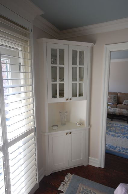 Nice Dining Room Corner Cabinet Designed And Built For Clients.