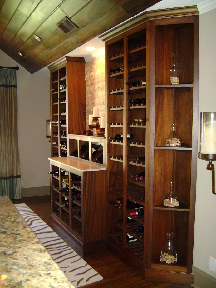 450 + BottleCustom Wine Display cabinet. Made with Sapele. Finished in Laquer & Custom Wine Cabinets - FineWoodworking