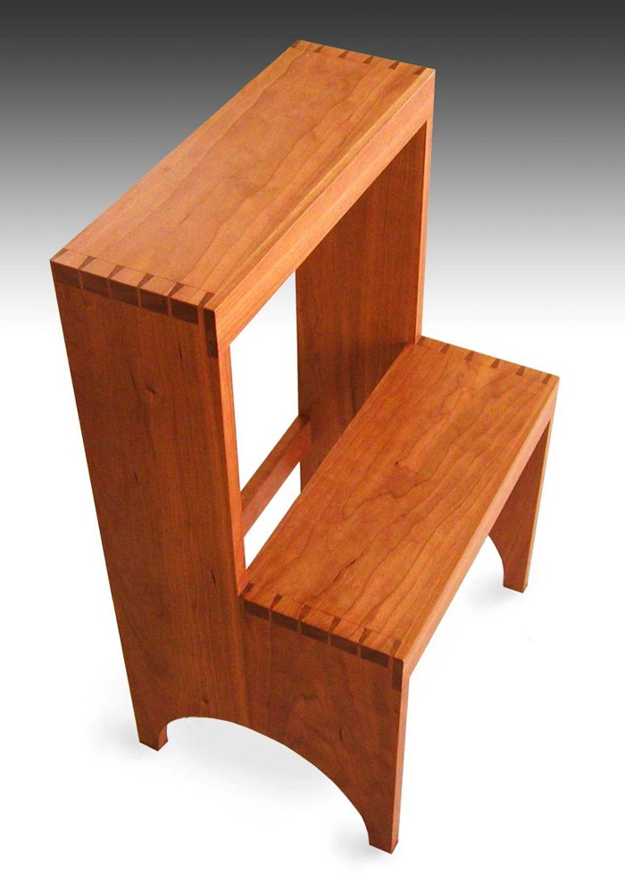 Wondrous Shaker Step Stool Cherry Finewoodworking Ibusinesslaw Wood Chair Design Ideas Ibusinesslaworg