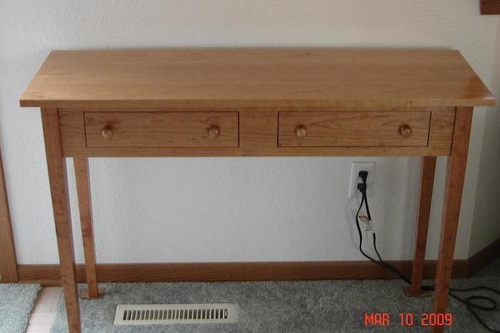 Good Shaker Hall Table Made From Cherry