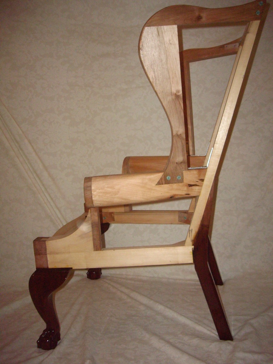Chippendale Wing Chair Frame